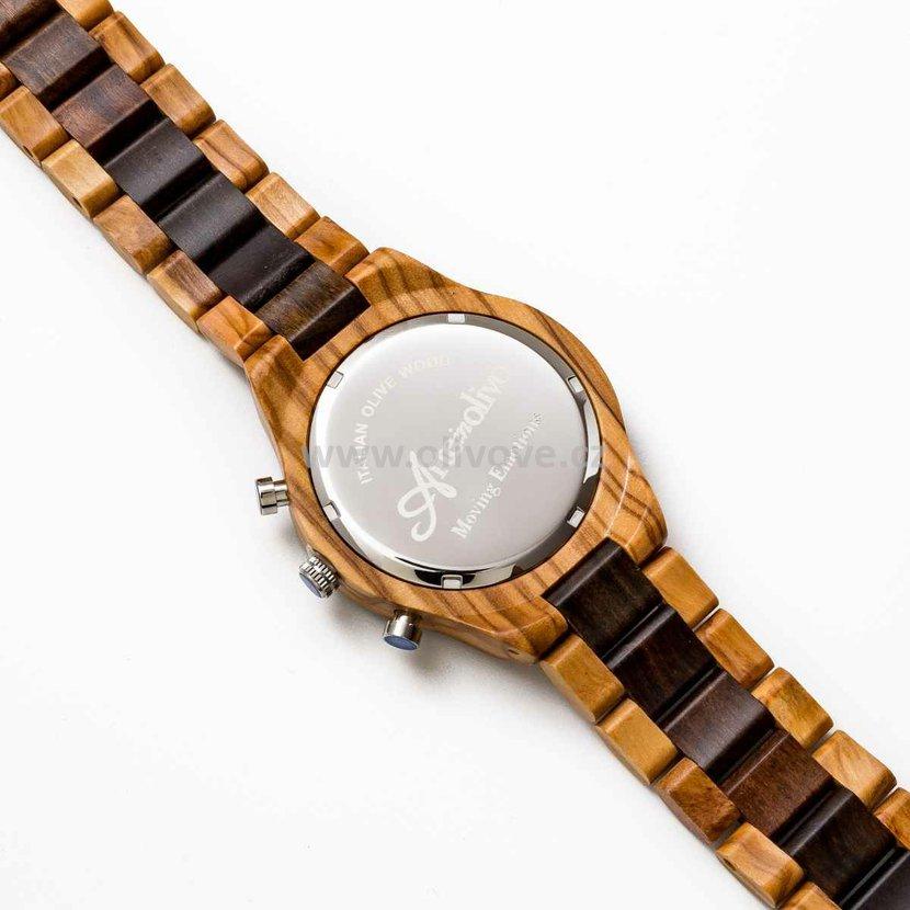 Pánské hodinky z olivového dřeva s chronografem 44e2c8b670